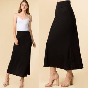 Dresses & Skirts - Basic Black Casual Maxi Skirt